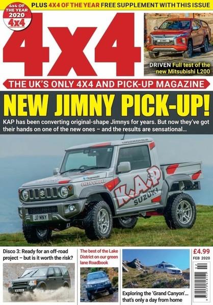 Naslovnica februarske številke revije 4 x 4 MAGAZINE