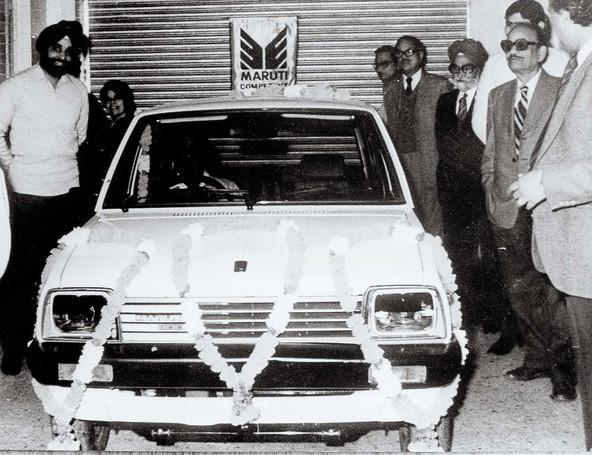 Začetek izdelave prvega modela znamke Maruti