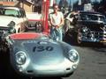 James Dean in njegov Porsche 550 Spyder