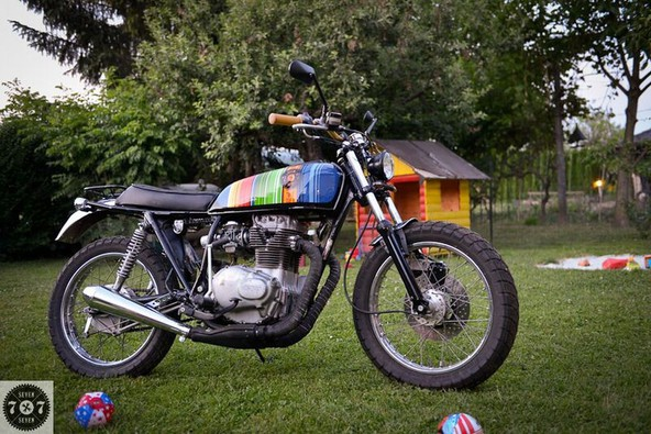 'Custom' Honda CJ 250 - city scrambler (1979): 7seven customs predstavlja eno izmed zadnjih predelav